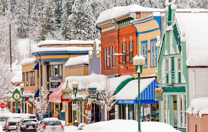 Winter Wonderland Downtown Revelstoke